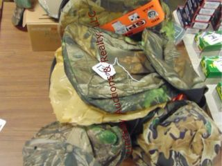 Shell bags  hats  gloves  bucket seat