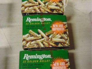 3 bxs 325 Remington Golden Bullet 22lR  675 rds