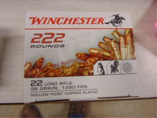 Winchester 222 rds of 22lR