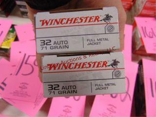2 bxs  100rds  Winchester 32 auto
