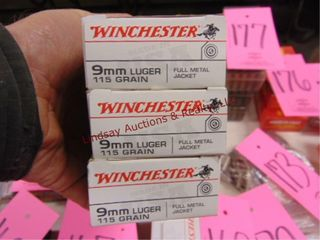 3 bxs  150rds  9mm Winchester