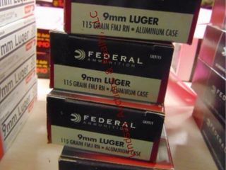 4bxs  200rds  9mm Federal  aluminum