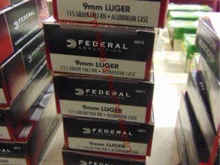 6bxs  300rds  9mm Federal  aluminum
