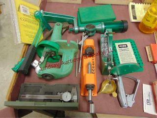 RCBS Single stage reloading press  powder measure