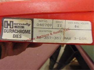 Set of Hornady 38 357 reloading dies