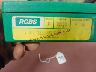 Set of RCBS 357 mag reloading dies
