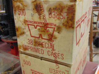 1000  Winchester 38 special unprimed cases