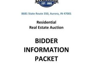 Wilson - Real Estate Auction - State Route 350 Aurora, IN