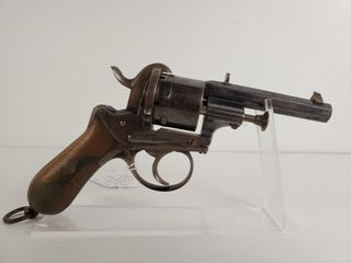 A  Francotte French Officer s Pin Fire Revolver