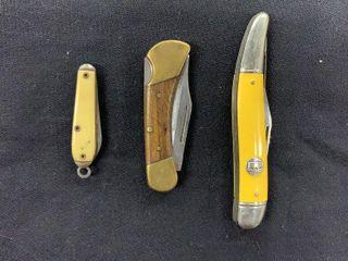 Puma Gentleman  Mini    Yellow Handle Knives