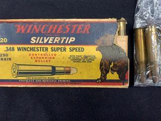 Winchester Silvertip  348 Super Speed Cartridges