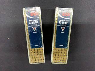 3  CCI Mini Mag  22 Ammo
