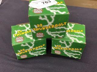 3   Remington  22 Thunderbolt Bricks