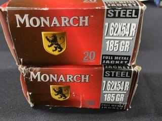 2  Monarch 7 62x54r Steel Boxes