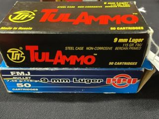 TulAmmo   PPU 9mm luger Boxes