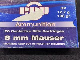 PPU 8mm Mauser Ammo