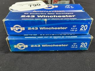 2  PPU 243 Winchester Boxes