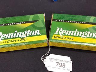 2 boxes of Remington Core lokt 30 06 Springfield