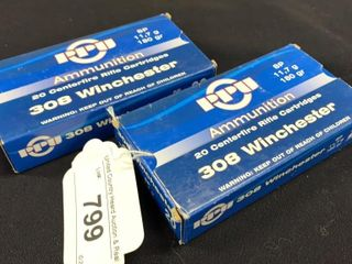 2 boxes of PPU ammunition 308 Winchester