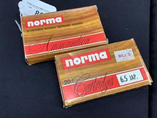 2 boxes of Norma 6 5 Jap  soft point cartridges