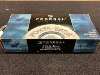 1 box of Federal Power Shok 30 30 Win cartridges
