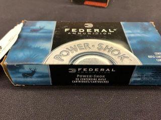 1 box of Federal Power Shock 243 win cartridges