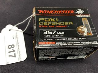 1 box of Winchester PDX1 357 mag cartridges