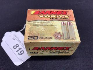 1 box of Barnes Vor tx 41 rem mag cartridges