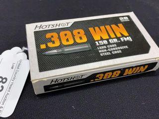 1 box of Hotshot  308 win 150 gr  FMJ