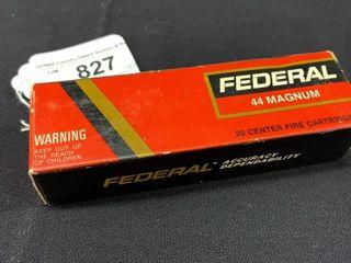 1 box of Federal 44 mag cartridges