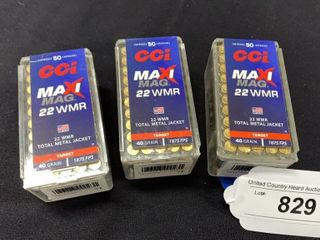 3 boxes of CCi Maxi mag 22 wmr