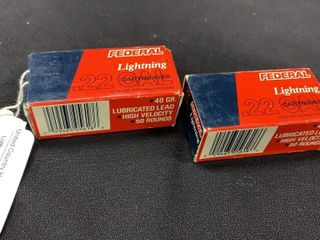 2 boxes of Federal  22 cal long rifle high