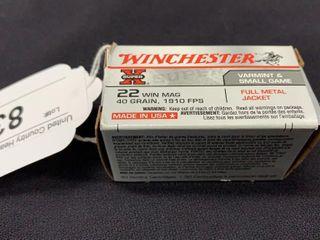 1 box of Winchester  22 win mag