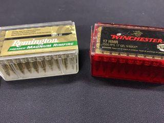 2 boxes of 17 HMR cartridges