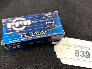 1 boxes of PPU 25 auto
