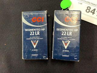 2 boxes of CCI Segmented HP 22lR 32 grain