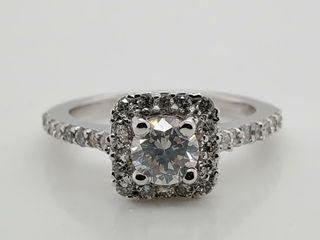 14K WHITE GOlD DIAMOND  0 6CT SI1 H DIAMOND