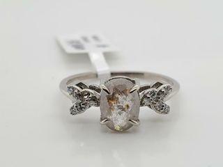 10K WHITE GOlD DIAMOND  0 92CT I3 H 0 12CT RING