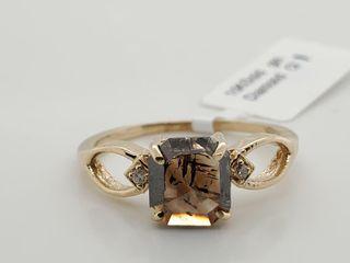 10K YEllOW GOlD DIAMOND  1CT I3 BROWN 0 02CT
