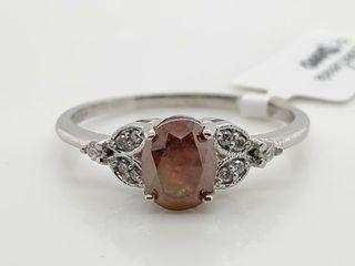 PlATINUM PT950 DIAMOND  1 13CT I3 ORANGE  RING