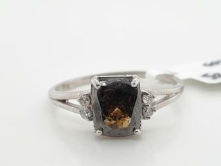 10K WHITE GOlD DIAMOND  1 2CT I1 BROWN  RING