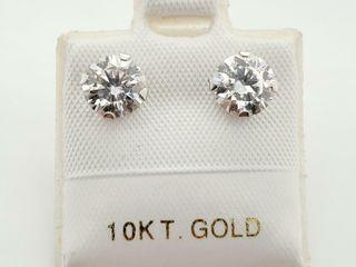 10K WHITE GOlD MOSSANITE 1 5CT  EARRINGS  MADE