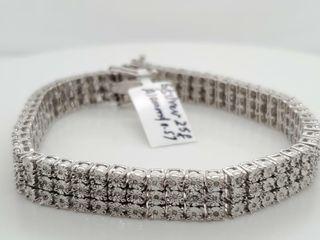 SIlVER DIAMOND 7 5 0 57CT  BRACElET  WEIGHT