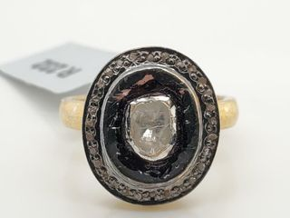 SIlVER DIAMOND 0 7CT  RING  WEIGHT 7 61G