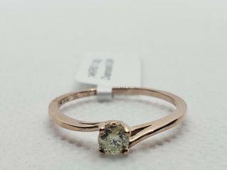 14K ROSE GOlD DIAMOND  0 24CT I1 H I  RING