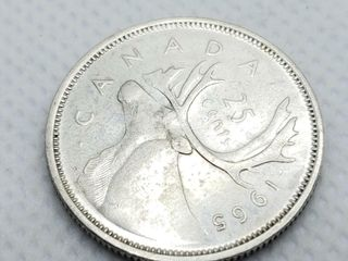 SS CANADIAN 25 CENT COIN  WEIGHT 5 8G