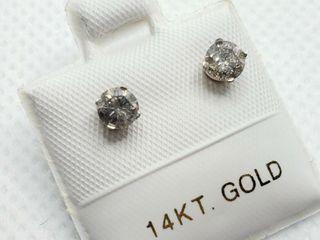 14K WHITE GOlD DIAMOND  0 5CT I2 3  H I  EARRINGS