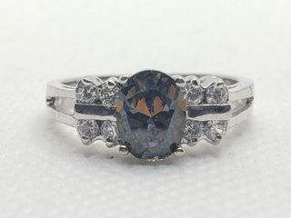 SIlVER RAINBOW TOPAZ RING  SIZE 7 75   WEIGHT