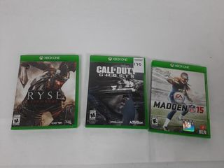 3  XBOX ONE GAMES   CAll OF DUTY GHOSTS  RYSE