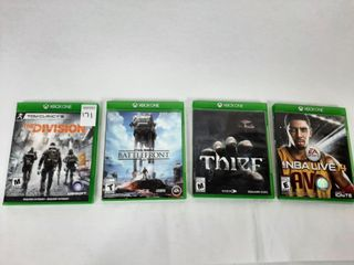 4  XBOX ONE GAMES   THE DIVISION  BATTlEFRONT